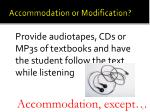 accommodation or modification5
