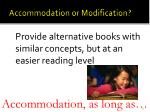 accommodation or modification9