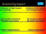 examining impact