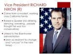 vice president richard nixon r