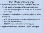 the medieval language