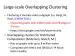 large scale overlapping clustering