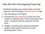 max min non overlapping clustering