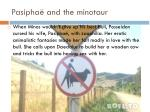 pasipha and the minotaur