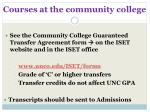 courses at the community college
