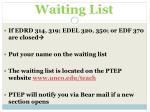 waiting list