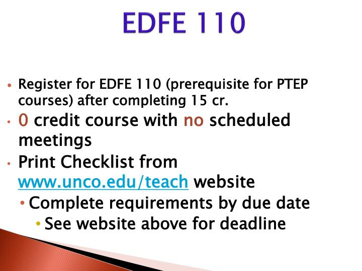 EDFE 110