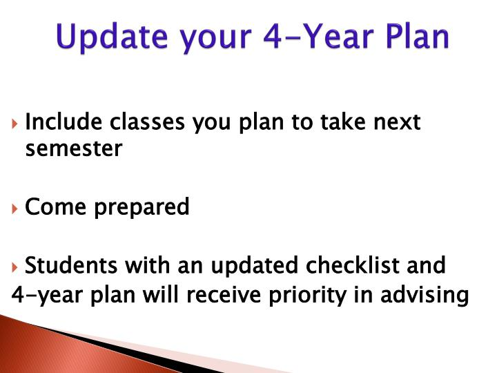Update your 4-Year Plan