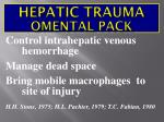 hepatic trauma omental pack
