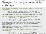 changes in body composition with age