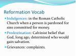 reformation vocab