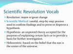 scientific revolution vocab