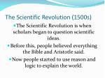 the scientific revolution 1500s