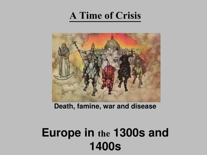 a time of crisis n.