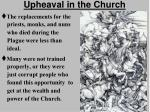 upheaval in the church