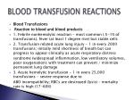 blood transfusion reactions