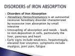 disorders of iron absorption
