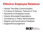 effective employee relations