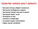 pediatric versus adult airways