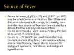 source of fever
