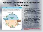 general overview of alternation of generation