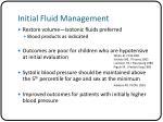 initial fluid management