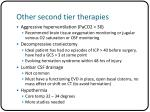 other second tier therapies