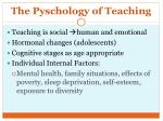 the pyschology of teaching