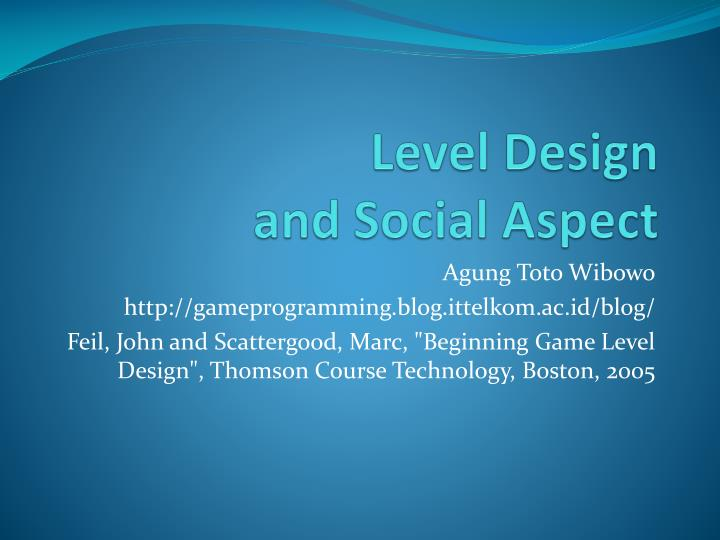 level design and social aspect n.