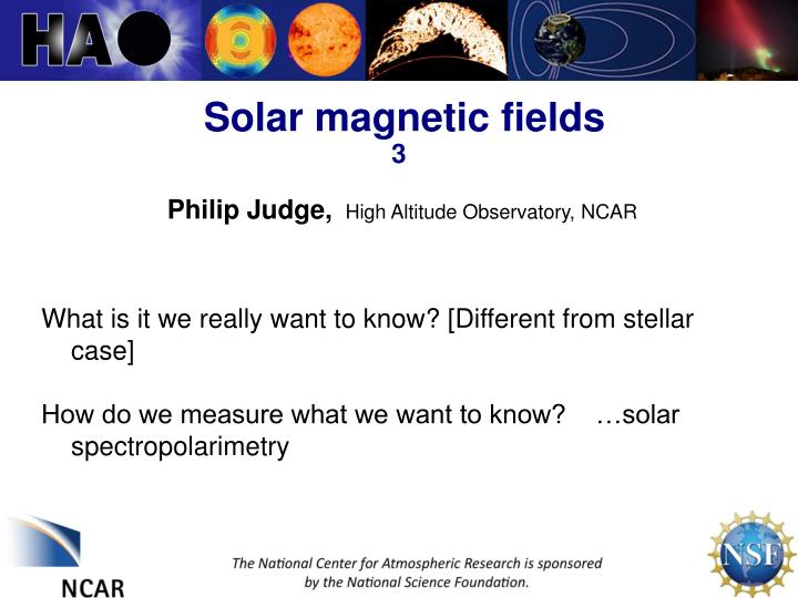 solar magnetic fields 3 n.