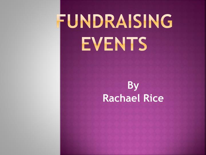 fundraising events n.