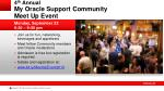 4 th annual my oracle support community meet up event