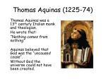 thomas aquinas 1225 74