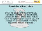 stranded on a desert island