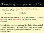 theophany an appearance of god