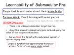 learnability of submodular fns