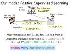 our model passive supervised learning1