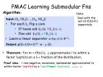 pmac learning submodular fns