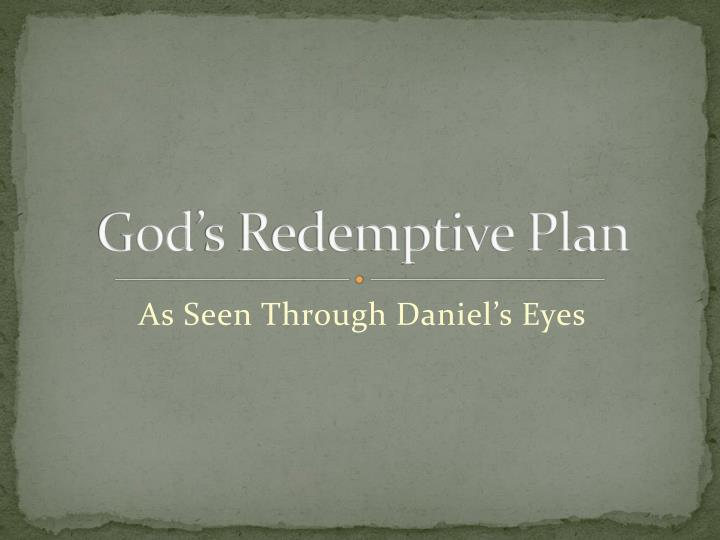 god s redemptive plan n.