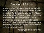 evolution of science