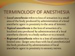 terminology of anesthesia4