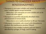 things to consider about benzodiazepines