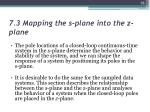 7 3 mapping the s plane into the z plane