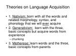 theories on language acquisition
