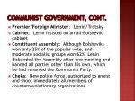 communist government cont