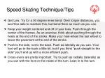 speed skating technique tips