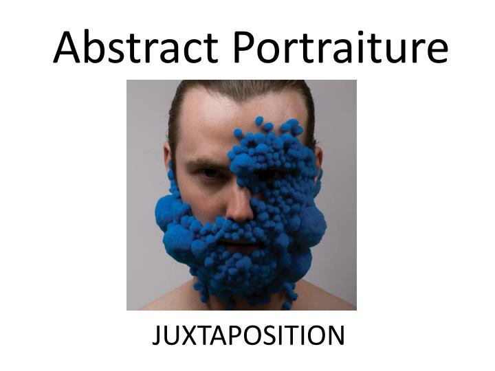 abstract portraiture n.