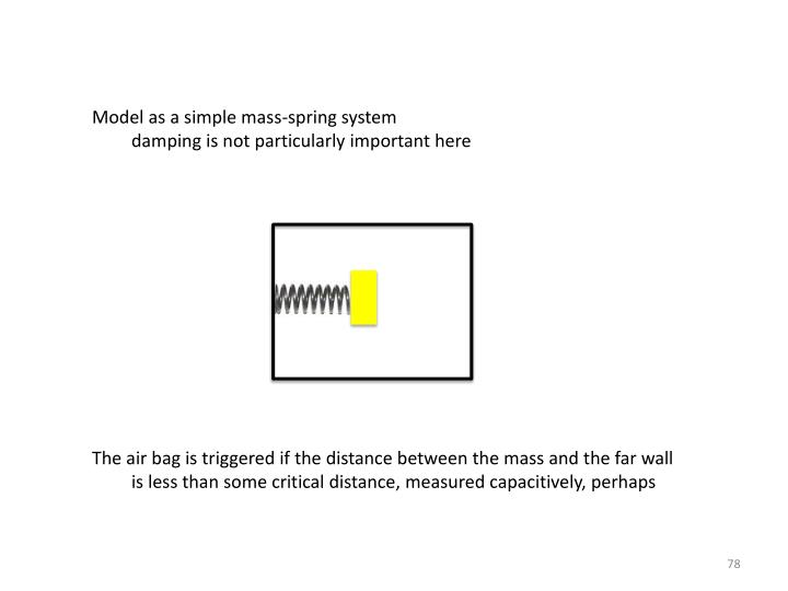 Model as a simple mass-spring system