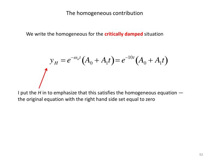 The homogeneous contribution
