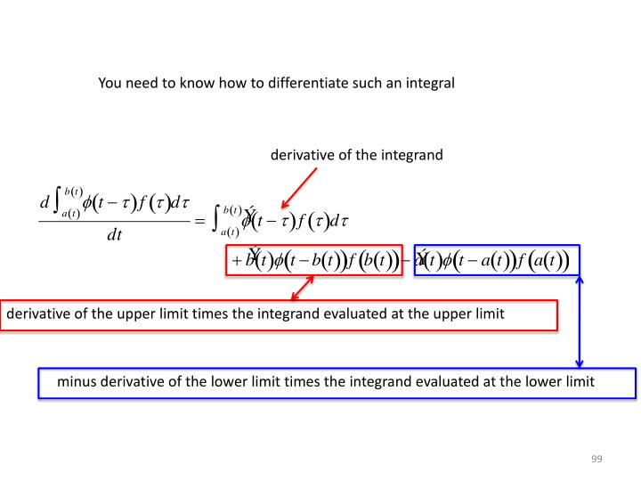 You need to know how to differentiate such an integral